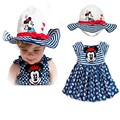 2015 Summer Style Baby Girls Clothing Set Crown Vest+Pantskirt 2pcs/set Children Cotton Clothes Set 2-8 Years KF066