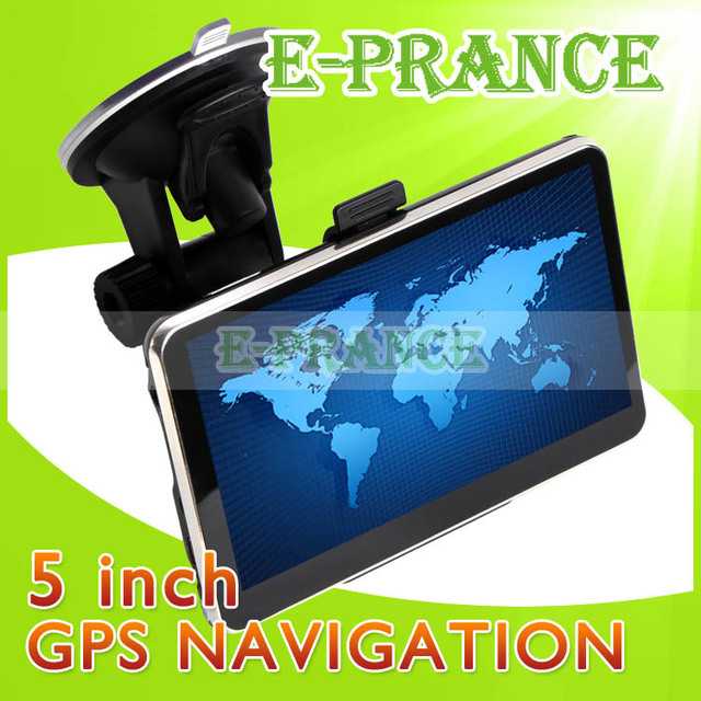 [30% OFF] Free Map !! Vehicle Navigation Car GPS Navigator 5 inch HD Touch Screen+Build-in 4GB+RAM 128MB+MTK 3351 CPU