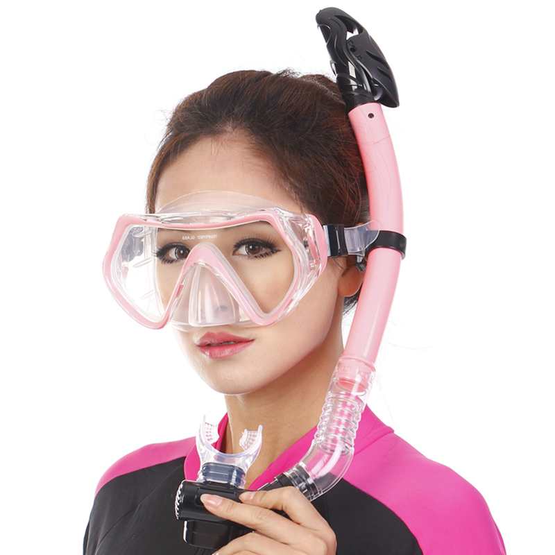 2016 Scuba Diving Mask Dry Snorkel Anti-Fog Goggles Glasses Set Silicone Swimming Pool Equipment 3 Colors Free Shipping(China (Mainland))