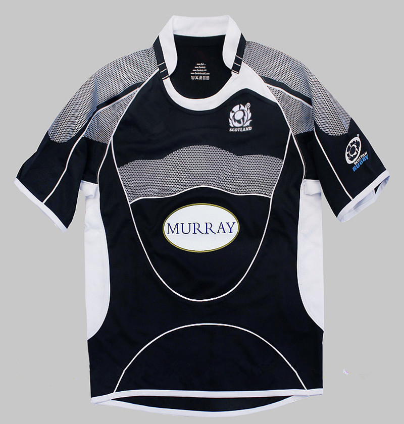 Kids Scotland Rugby Jersey Child Short Sleeve Navy Rugby Shirt 8-12 Years Old(China (Mainland))