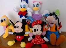 Free shipping 1set Mickey Mouse Clubhouse Plush toys Mickey and Minnie,Donald duck and daisy,GOOFy dog,Pluto Dog plush toys set(China (Mainland))