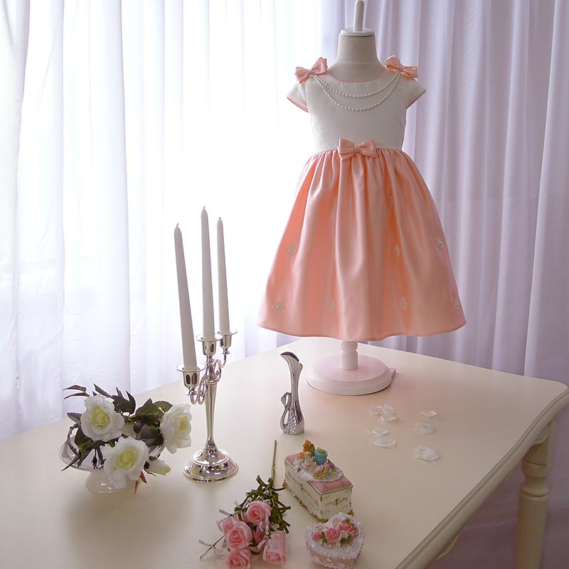 Pink child flower girl dress formal dress female child princess dress one-piece dress costume(China (Mainland))