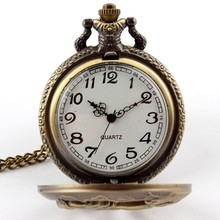 Buy Cindiry Antique Bronze Orologio taschino Horse Hollow Quartz pocket Watch Necklace Chain Pendant Womens Men Watches Gifts P0.35 for $2.88 in AliExpress store