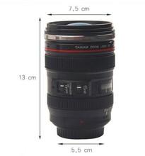 Free Shipping 6th Stainless Steel Coffee Camera Lens Mug Cup M104 MUG 11