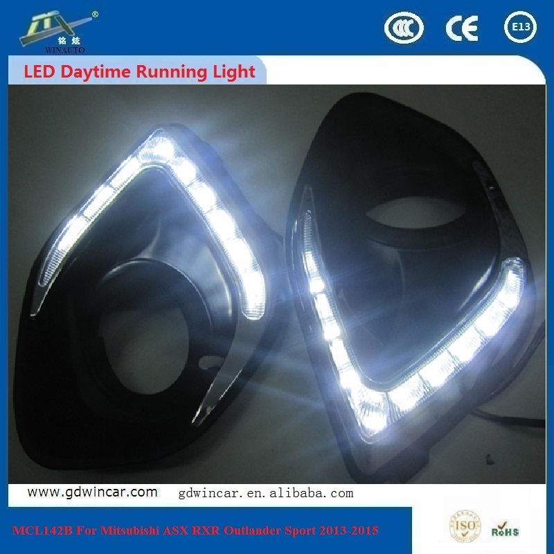 Фотография For Mitsubishi ASX RXR Outlander Sport  2013 - 2015 New Motorcycle Bulb Daylights DRL Resistance To High Temperature Auto Parts