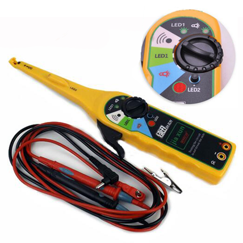 Electrical Wiring Tester : Yellow color car auto power electric circuit tester lamp