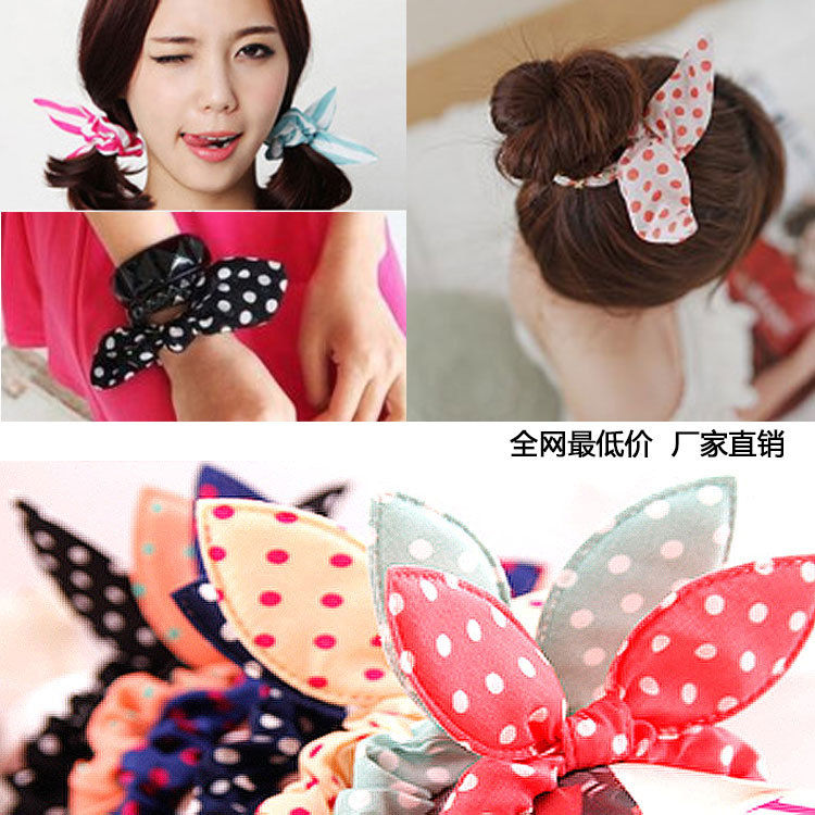 2016 hair accessories 8pcs / set Women Tiara Satin Ribbon Bow Hair Band Rope Scrunchie Ponytail Holder HT316(China (Mainland))
