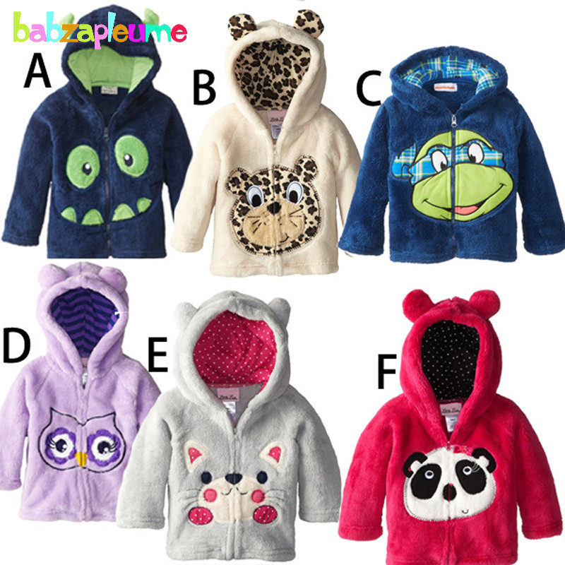 Autumn Winter Children Jackets Cute Cartoon Baby Boy Outerwear Toddler Clothes Cardigan Hooded Sweater Girl Coats 0-5Year BC1180(China (Mainland))