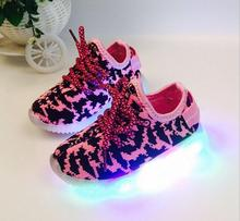 Kids Shoes Light 2016 Sport Girls boys Led Child Yeezy Sneakers Lighted - yuyu0802 store