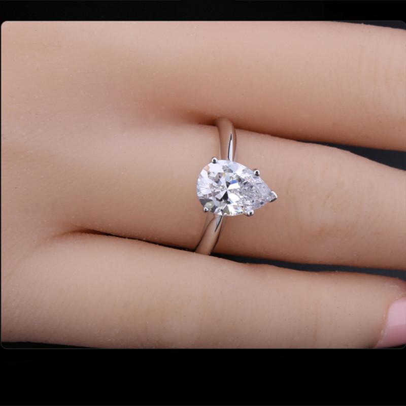 Modern Wedding Rings Hy Newlyweds Pear Shaped Engagement My Beautiful 2 Ct