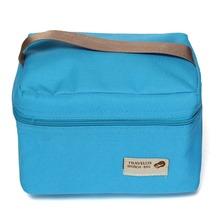 Einfache Stil Thermische Insulated Cooler Wasserdicht Mittagessen Picknick Tasche Tragen Aufbewahrungstasche Handtasche Beliebte Typ Mann Frauen(China (Mainland))