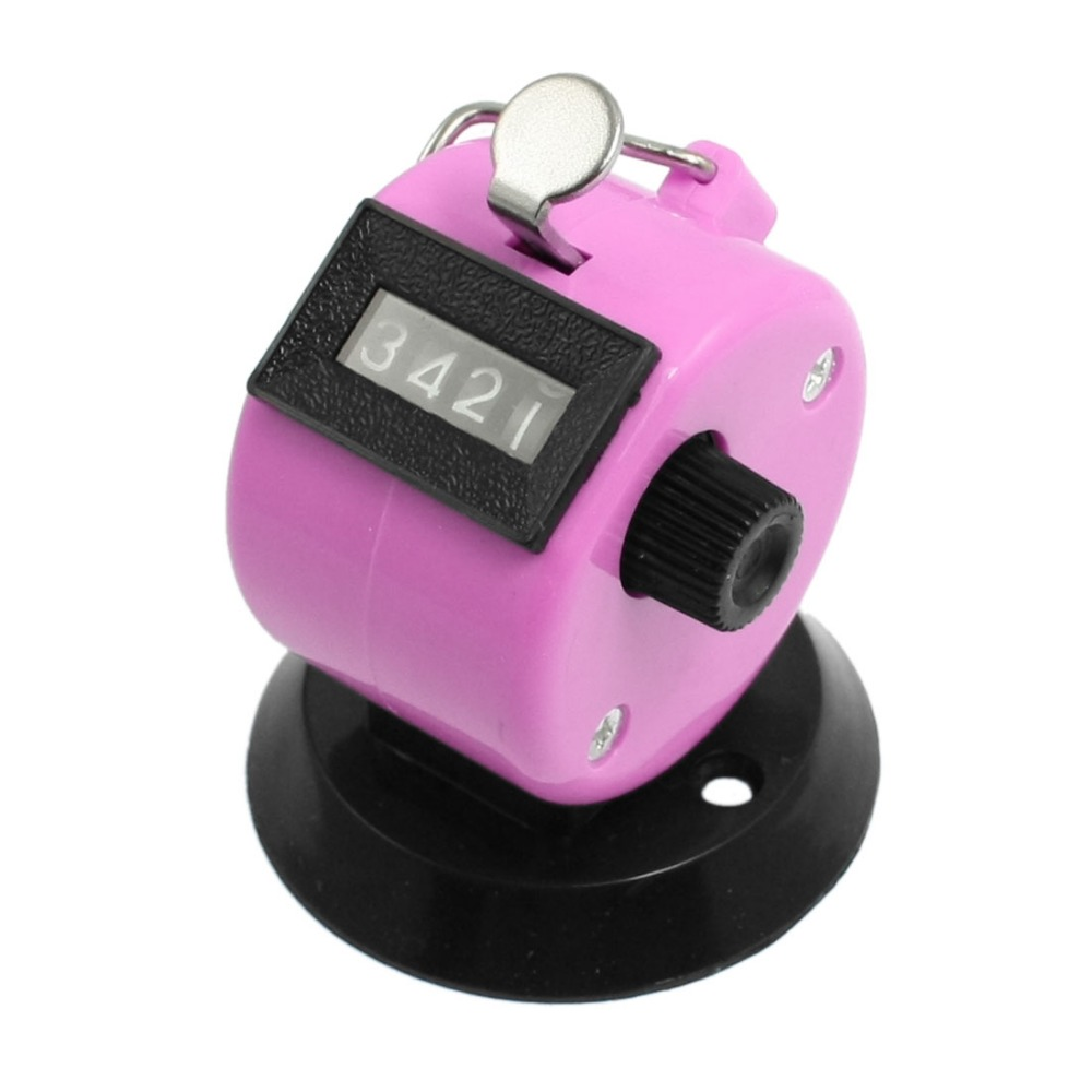 Black Pink Plastic 4 Digit Manual Hand Tally Palm Click Counter Discount 50(China (Mainland))