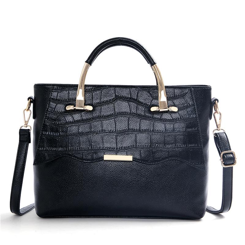 Fabra Woman Small Handbag Embossed Pu Leather Women Messenger Bags Black Flap Female Shoulder Cross Body Tote Bag 25*12*21 Cm(China (Mainland))