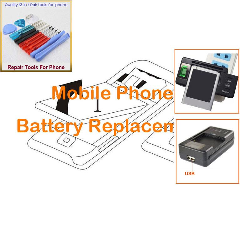 3 PCS = 2 PCS Battery for Nokia BP-4L, E52, E71x, E63, 6760 Slide, N810 WiMAX Edition + 1 PCS Universal LCD Charger(China (Mainland))