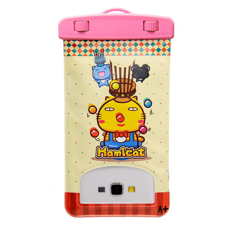6.0 inch Cartoon Universal Waterproof Underwater Durable Bag Case Pouch For Mobile Phone For Elephone P8000 Hamicat Style