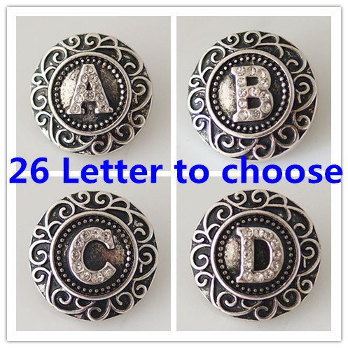 Гаджет  Interchangeable Ginger snaps Jewelry Accessory With Crystal Alphabet Metal Buttons Snap Jewelry Free Shipping KB6254 None Ювелирные изделия и часы