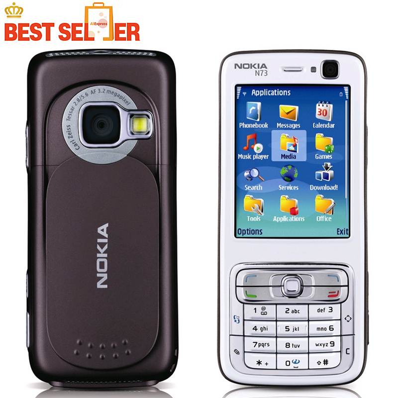 Nokia N73 Original Mobile Phone Camera 3.2MP Bluetooth FM Java Unlocked N73 Cell Phone Free Shipping(China (Mainland))