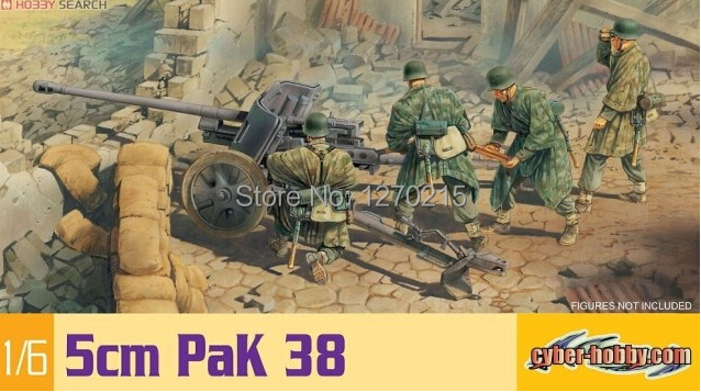 "Dragon Models 1/6 Scale 5cm PaK 38 Model Kit for 12"" Action Figure 75016(China (Mainland))"