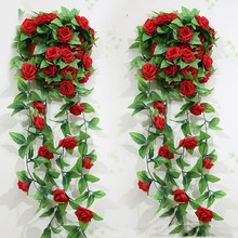 Artificial Rose Garland Flower Vine Ivy Home Decor