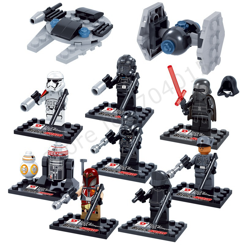 Star Wars The Force Awakens 10 Pcs Set Action figures Kylo Ren TIE Pilot Captain Phasma R2D2 Building Toy Compatible With Lego(China (Mainland))