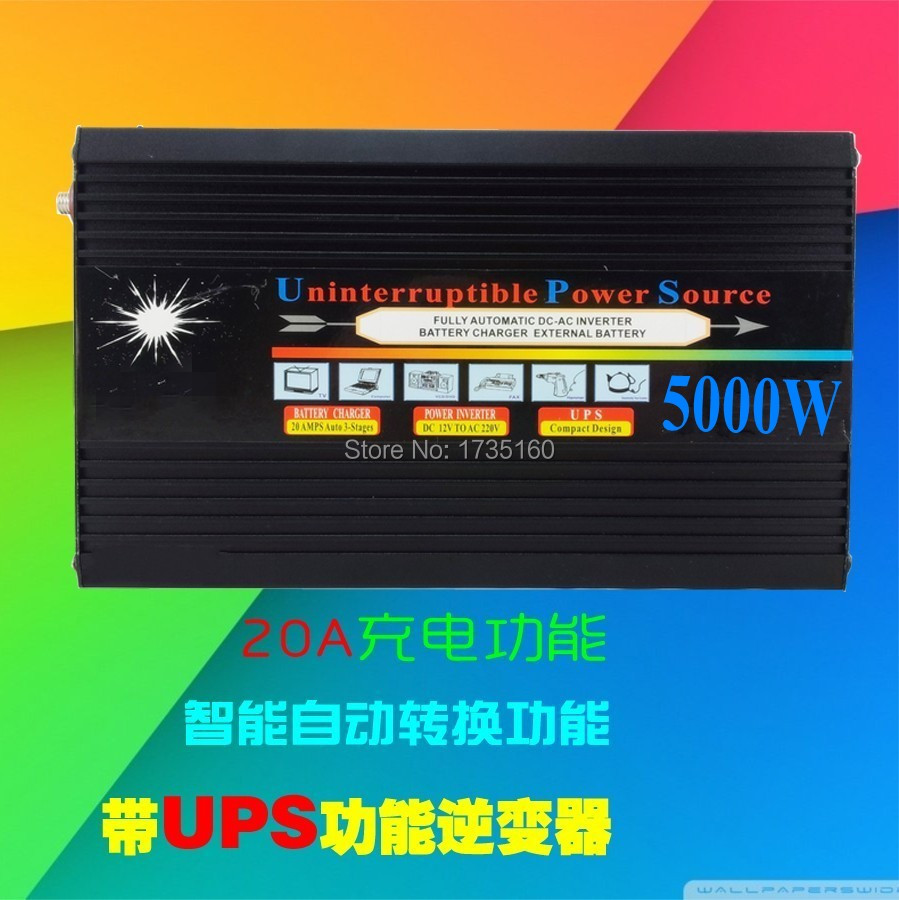 Uninterrupted Power Supply 5000W UPS Inverter 5000W Automatic Charge 24v To 220v Or 220v To 24v<br><br>Aliexpress