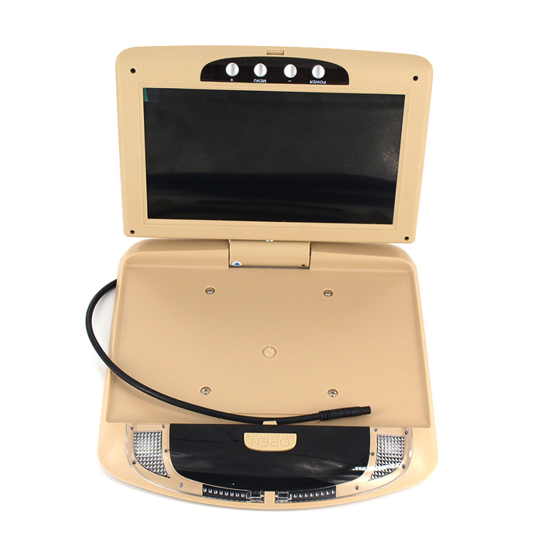 9 Inch Flip Down TFT LCD Monitor Car Roof Mounted Monitor Player Car Ceiling Monitor with two video input car styling(China (Mainland))