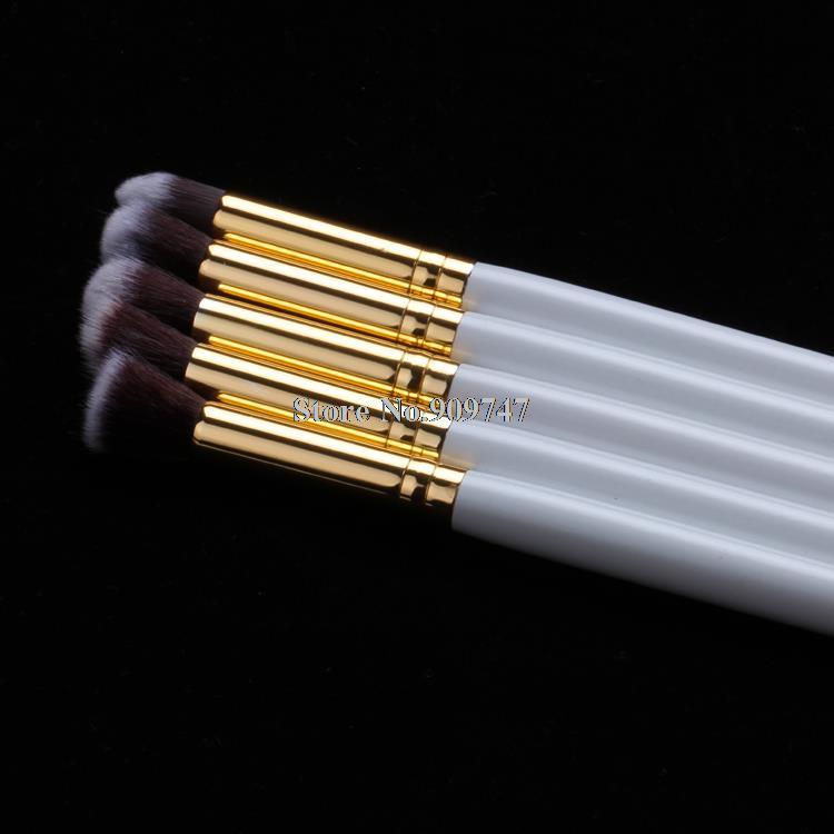 50Sets/Lot 5pcs Soft Synthetic Hair Hot Tools Kit Cosmetics Beauty Makeup Brush Sets Gold blending eyeshadow eyeliner brush(China (Mainland))