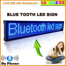 40 x 6.3 inches Bluetooth Programmable Led signs Display Scrolling Message for Business and Store -Blue Message(China (Mainland))