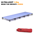 Sturdy Comfortable Ultralight Portable Aluminium Alloy Outdoor Camping Cot Camp Folding Tent Bed Lunch Break Bed