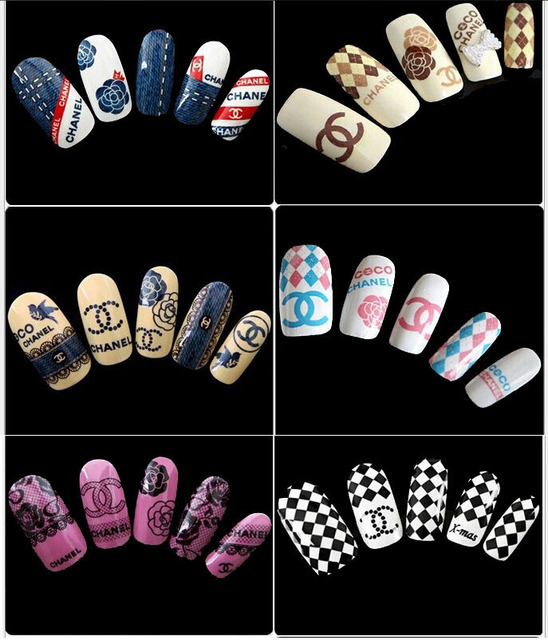 ... Stickers Water Transfers 3D Nail Ongles Decals Foil Decorations Nails