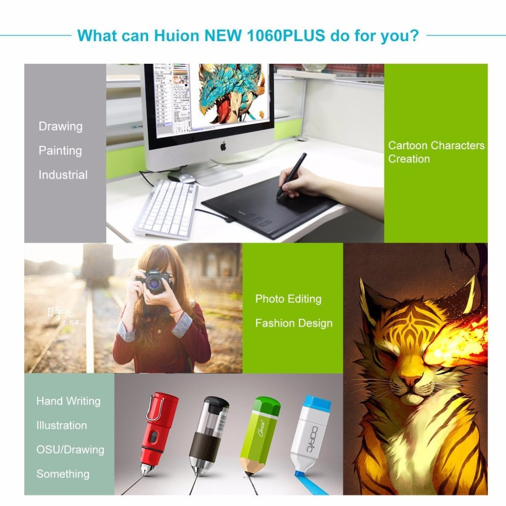HUION 1060 PLUS Graphic Tablet 07