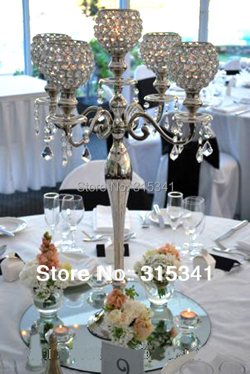 Pcs lot free shipment candelabra centerpiece crystal
