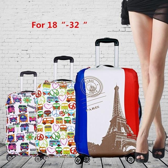 Новый! 4 цвета 18 - 32 дюймов упругой туристические багажа защитные крышки растягиваемые ...