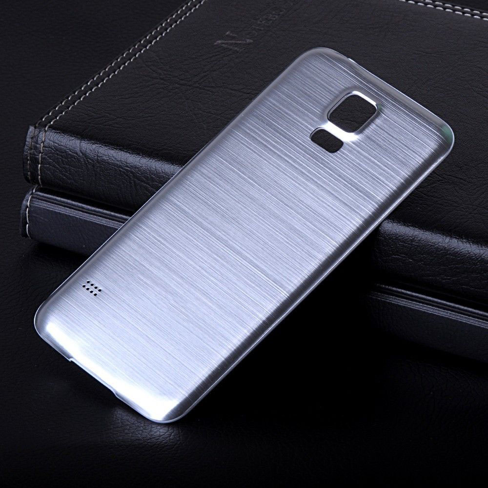 Brushed Aluminum Case for Galaxy S5 Luxury Housing Battery Door Fashion Mobile Phone Back Cover Cases for Samsung S5 i9600(China (Mainland))