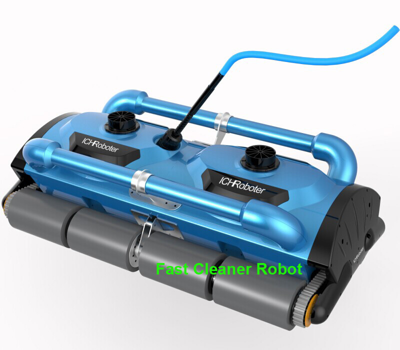 High effeciency Commerical use Swimming pool robotic vacuum cleaner( Cleaning capacity for 1000m2 big Pool )With Caddy Cart(China (Mainland))