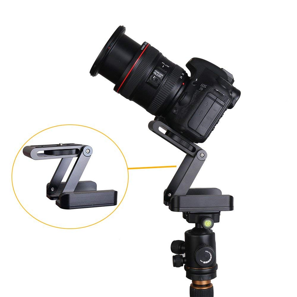 Foldable Z Pan Tilt Tripod Head Quick Release Plate Holder for DSLR Camera Camcorder Photography Accessory Connect Track Slider