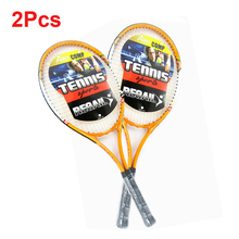 2 Pcs/set Sports Tennis Racket Aluminum Alloy Adult Racquet with Racquet Cover Bag for Beginners Youth Tennis Training Exercises(China (Mainland))