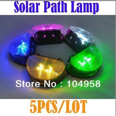 Solar Powered LED Light Garden Landscape Fence Light Wall Lamp Led Light Free Shipping + Drop Shipping 5pcs/lot