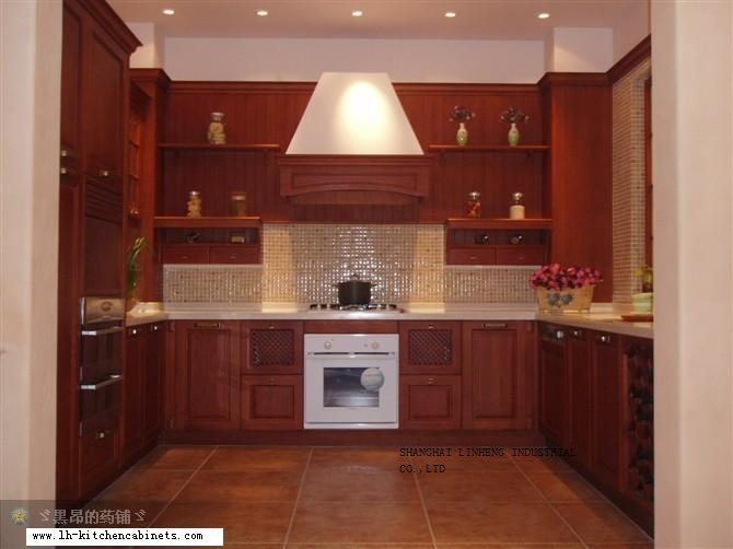 European style wood cabinets for kitchen (LH-SW026)(China (Mainland))