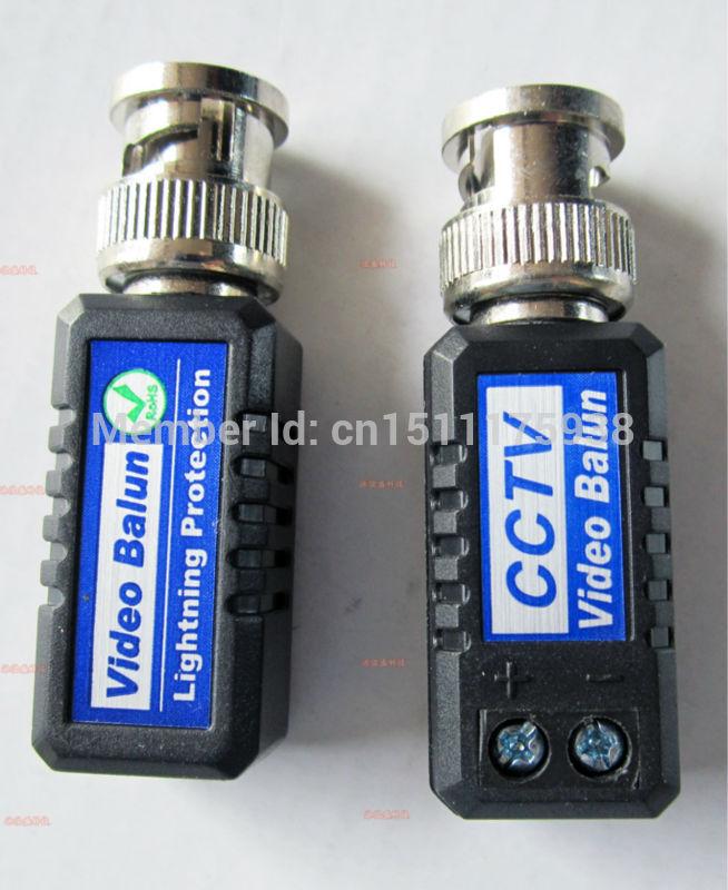 Free Shipping CAT5 To Camera CCTV BNC UTP Passive Video Balun Transceiver High Quality video balun surveillance 202E 16PCS(China (Mainland))