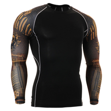 2016 urban clothing long sleeve t shirts for running biking skulls printed tops clothes clothing for weight lifting boxing fight