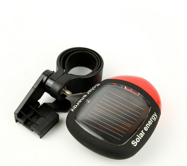 2LED Solar Bicycle Light High Quanlity Bicycle Mmergency Light Bicycle Tail Light, OP58(China (Mainland))