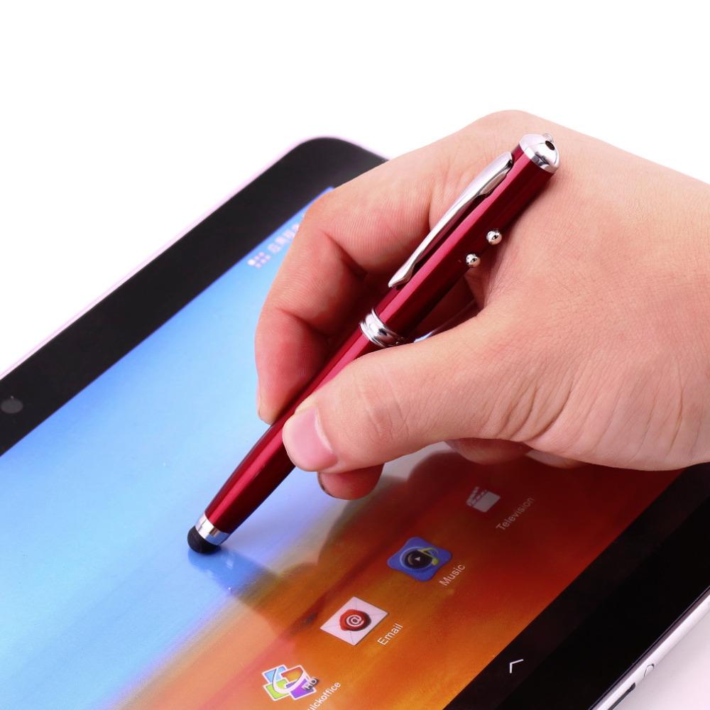 Гаджет  Bullet mini metal capacitive touch pen stylus screen for phone, tablet, laptop,built-in ballpoint pen 4 in 1 for meeting None Компьютер & сеть