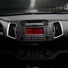 Car Styling Interior HVAC Ducts Air Outlet Cover Decoration Sticker KIA Sportage R 2011 2012 2013 2014 2015 Auto Accessories - Long Fa Store store