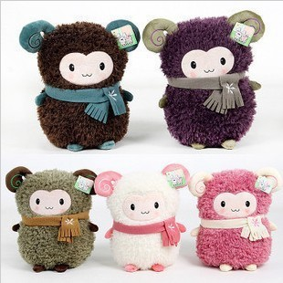 sheep plush Lambling hand warmer little sheep plush toy doll thermal pillow cushion Warm and lay your hand upon