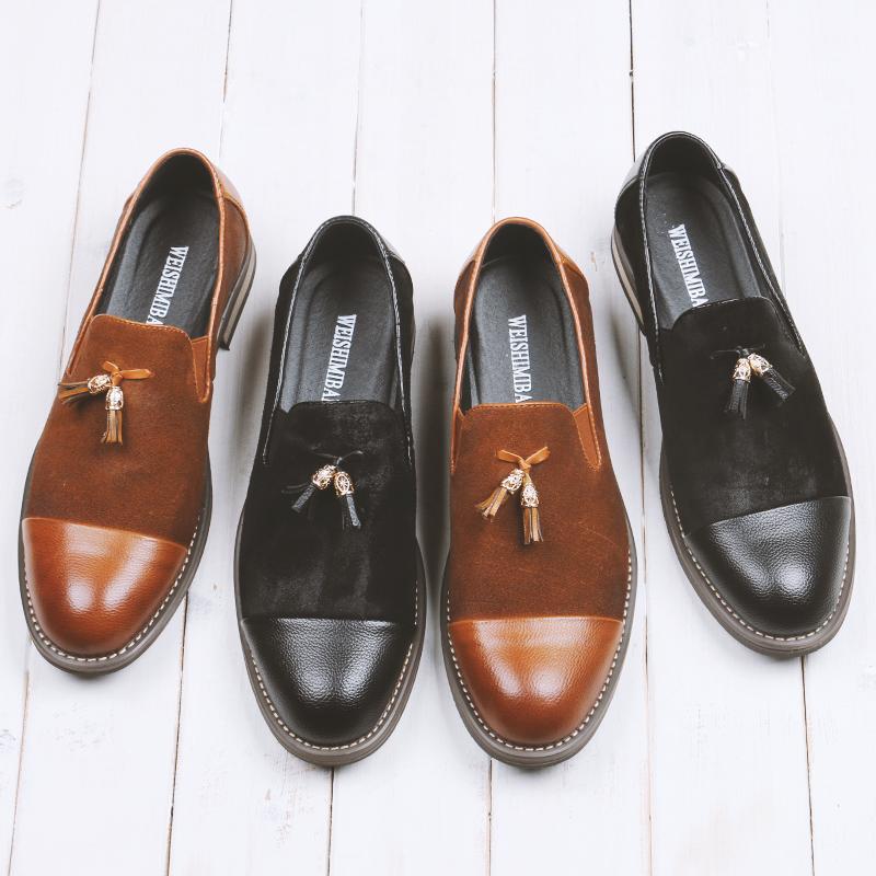 get cheap mens suede tassel loafers aliexpress