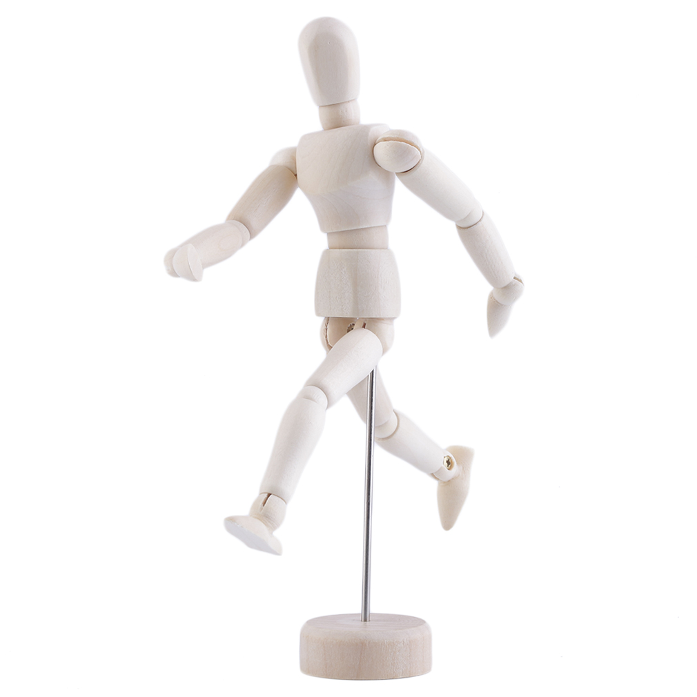 5.5 inch Drawing Model Wooden Human Male Manikin Jointed Mannequin Puppet Worldwide sale(China (Mainland))