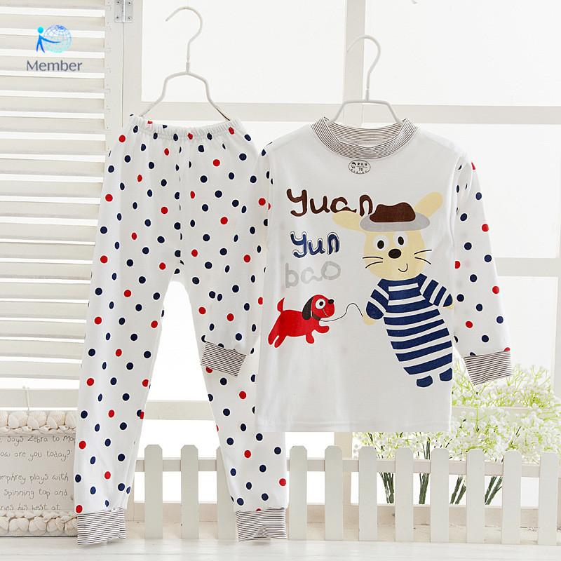 pyjamas kids summer cotton pijamas children underwear pajamas sets for boy girls sleepwear infantil clothes 20#(China (Mainland))