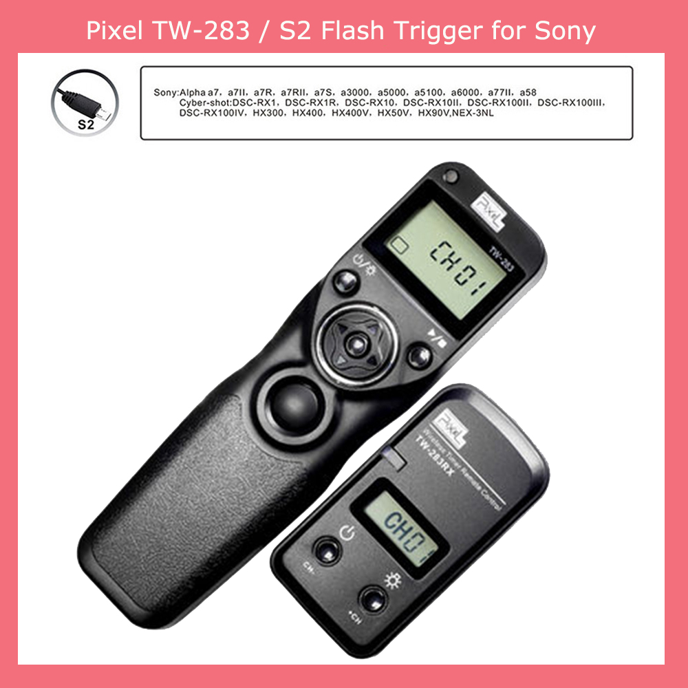 Гаджет  Pixel TW-283 S2 TW283 Wireless Timer Remote Control Shutter Release for Sony Alpha a7 a7II a7R a7S a3000 a5000 a5100 a6000 a58 None Бытовая электроника