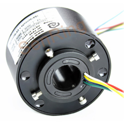 Conductive slip ring 25.4mm for through bore slip rings gold to gold SNH025 24 circuits 10A(China (Mainland))